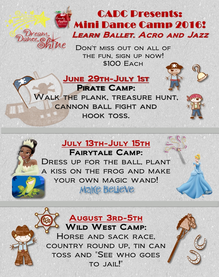 Mini Dance Camps 2016